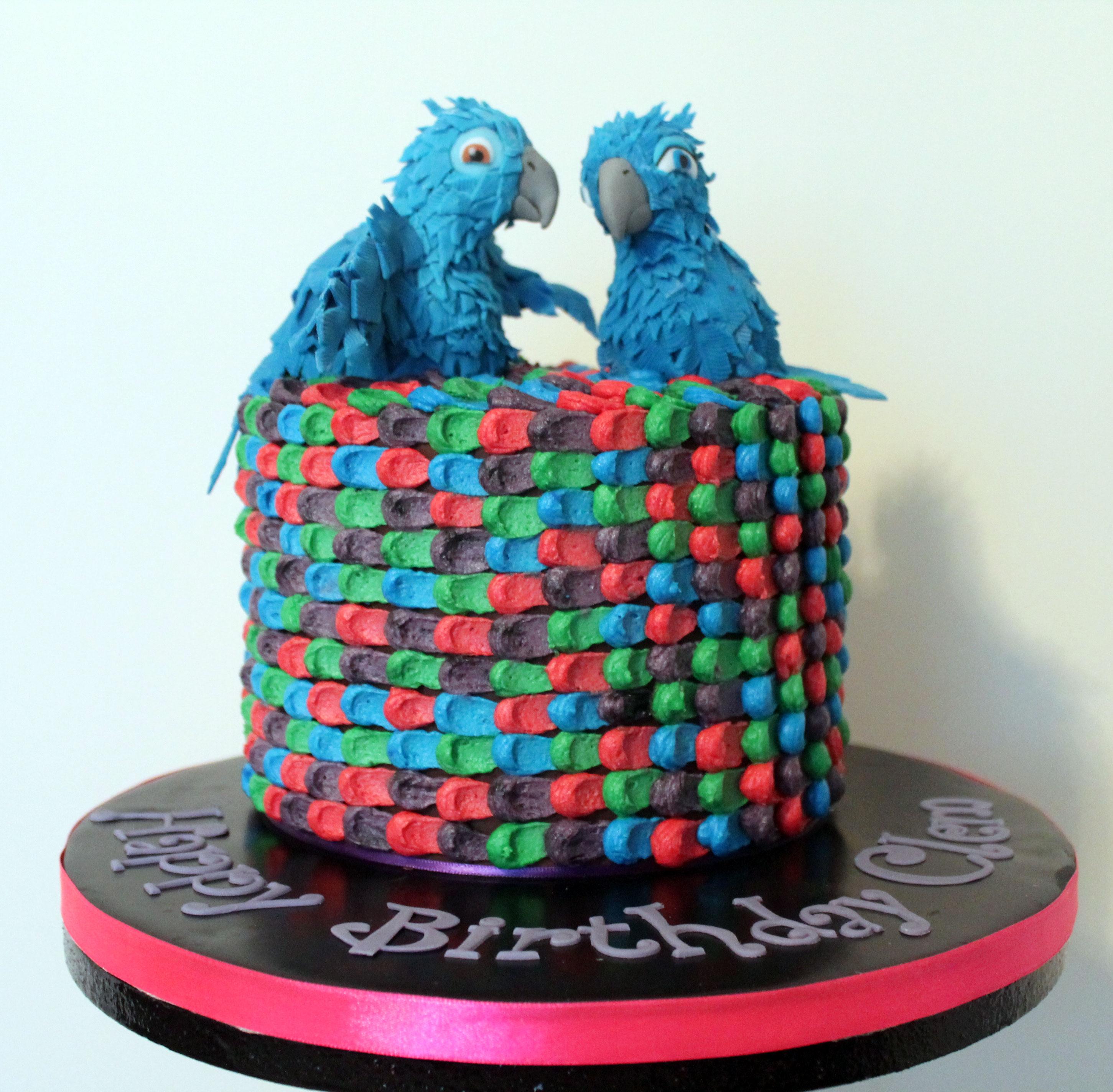 Rio bird cake