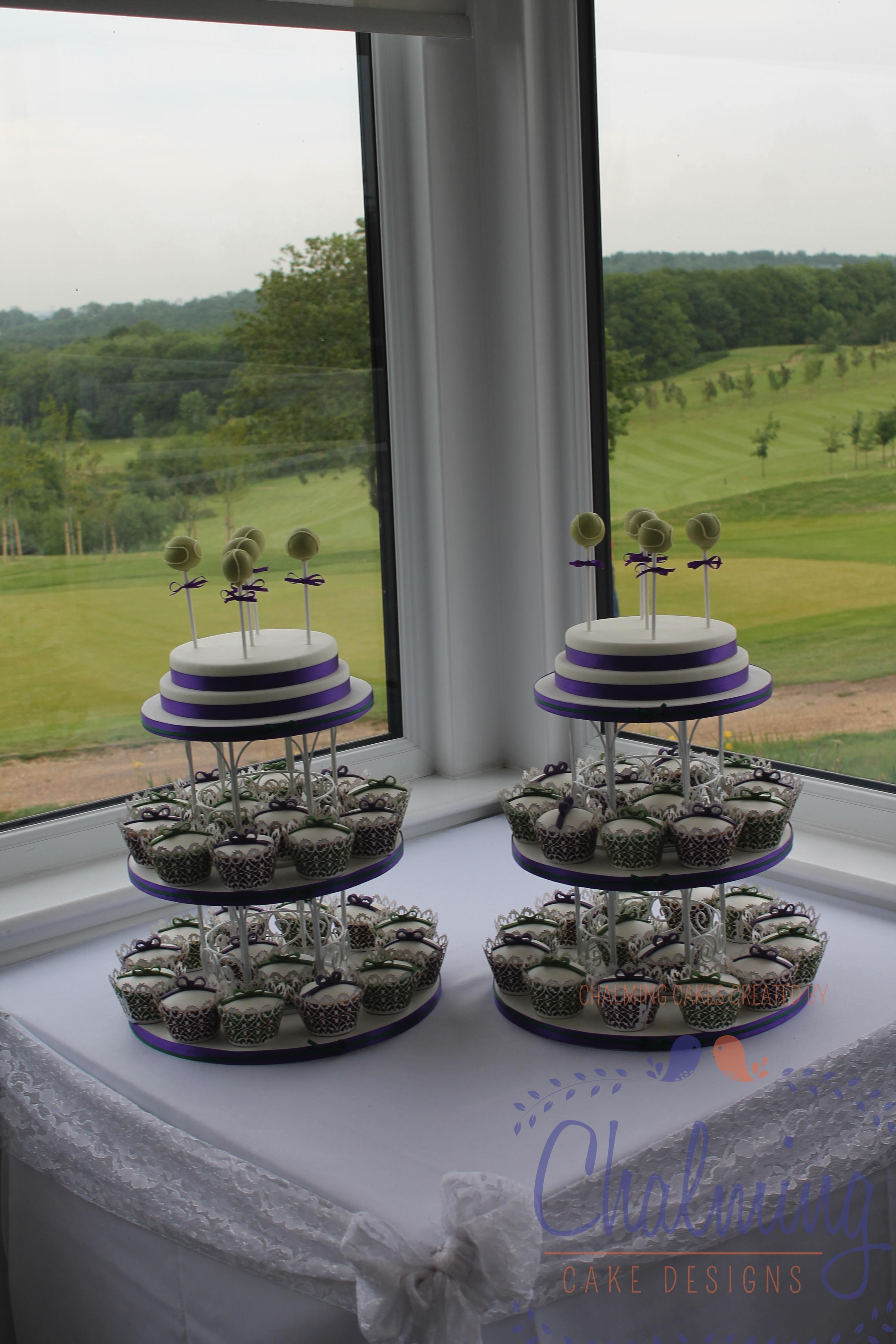 Wimbledon themed Wedding Cupcakes – June 2015